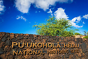 Puukohola Heiau National Historic Site, Kohala Coast, The Big Island, Hawaii USA
