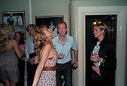CAROLINE HAINES; RICHARD DEMPSEY; ISABELLA CALTHORPE, Party in theatre bar to celebrate a Cast change for DIRTY DANCING, THE ALDWCH THEATRE, London ,28 July 2010.<br />  <br /> -DO NOT ARCHIVE-© Copyright Photograph by Dafydd Jones. 248 Clapham Rd. London SW9 0PZ. Tel 0207 820 0771. www.dafjones.com.