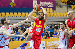 Sergio Rodriguez #6 of Spain during basketball match between National teams of Spain and Georgia in Round 1 at Day 6 of Eurobasket 2013 on September 9, 2013 in Arena Zlatorog, Celje, Slovenia. (Photo by Vid Ponikvar / Sportida.com)