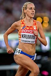 13-08-2017 IAAF World Championships Athletics day 10, London<br /> Susan Krumin wordt achtste op de 5000 meter
