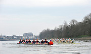 Putney, GREAT BRITAIN,  Right, Cambridge in action during the  2010  Varsity/Cambridge University  vs CZE National M8+, raced over the championship course. [reversed] Chiswick to Putney,  Wednesday,  24/03/2010 . [Mandatory Credit, Peter Spurrier/Intersport-images].Crew CUBC left to right - Bow, Rob WEITMEYER, Geoff ROTH, Derek RASMUSSEN, Peter McCLELLAND, Deaglan McEACHERN, Henry PELLY. George NASH, Stroke Fred GILL and Cox Ted RANDOLPH.