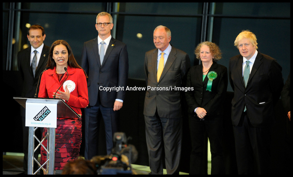 Siobhan Benita, the independent candidate for London Mayor makes her speech at City Hall, Friday May 4, 2012. Photo By Andrew Parsons/I-images