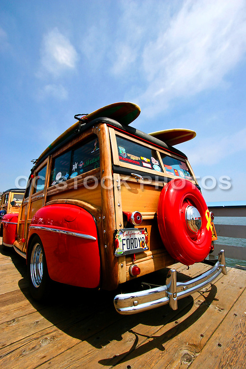 Classic Woodie Car On The Pier