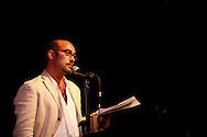 Actor John Ventimiglia reads poetry by Jack Kerouac at the Bowery Poetry Club during the 2007 Howl Festival in New York City.