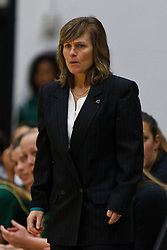 Nov 16, 2011; San Francisco CA, USA;  Cal Poly Mustangs head coach Faith Mimnaugh on the sidelines against the San Francisco Lady Dons during the second half at War Memorial Gym.  Cal Poly defeated San Francisco 80-66. Mandatory Credit: Jason O. Watson-US PRESSWIRE