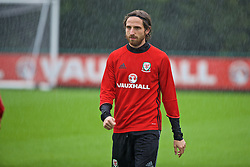 CARDIFF, WALES - Saturday, September 3, 2016: Wales' Joe Allen during a training session at the Vale Resort ahead of the 2018 FIFA World Cup Qualifying Group D match against Moldova. (Pic by David Rawcliffe/Propaganda)