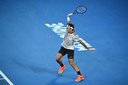 Roger Federer (SUI) during his semi final at the 2017 Australian Open at Melbourne Park in Melbourne, Australia, on January 26, 2017. Photo by Corinne Dubreuil/ABACAPRESS.COM