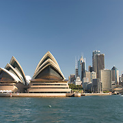 The water-facing side of Sydney's landmark opera house.  NSW, Australia.