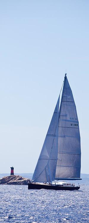 Saudade sailing in the Loro Piana Superyacht Regatta, day 1.