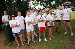 Zenska mladinska reprezentanca  na obisku na otroski rokometni akademiji Urosa Z. v Dolenjskih toplicah, 27. junija 2008, Dolenjske toplice, Slovenija. (Photo by Vid Ponikvar / Sportal Images)