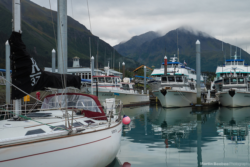 Fishing boats at Seward Harbor, Seward, Alaska