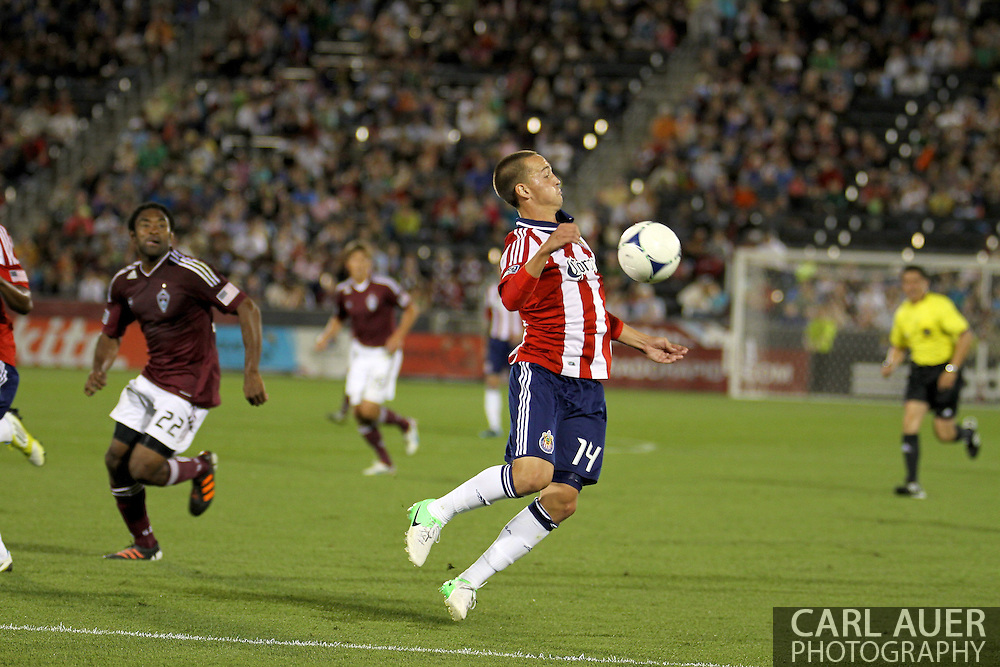 August 18th, 2012: Chivas USA forward Casey Townsend (14) in the second half against the Colorado Rapids at Dick's Sporting Goods Park