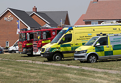 © Licensed to London News Pictures. 06/07/2018. Amesbury, UK. Fire brigade and ambulance vehicles arrive outside a property in Amesbury after a couple, named locally as Dawn Sturgess, 44, and her partner Charlie Rowley, 45, were taken ill on Saturday 30th June 2018. Police have confirmed that the couple have been in contact with Novichok nerve agent. Former Russian spy Sergei Skripal and his daughter Yulia were poisoned with Novichok nerve agent in nearby Salisbury in March 2018. Photo credit: Peter Macdiarmid/LNP