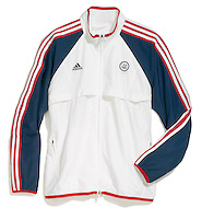 olympic red white and blue jacket by adidas