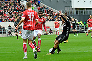 Goal - Samuel Saiz (21) of Leeds United scores a goal to give a 0-1 lead to the away team during the EFL Sky Bet Championship match between Bristol City and Leeds United at Ashton Gate, Bristol, England on 21 October 2017. Photo by Graham Hunt.