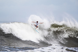 Liam Obrien of Australia advances to round three after placing second in round two heat 2 of the 2018 Hawaiian Pro at Haleiwa, Oahu, Hawaii, USA.