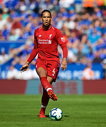LEICESTER, ENGLAND - Saturday, September 1, 2018: Liverpool's Virgil van Dijk during the FA Premier League match between Leicester City and Liverpool at the King Power Stadium. (Pic by David Rawcliffe/Propaganda)