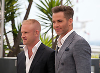 Actors Ben Foster and Chris Pine at the Hell Or High Water film photo call at the 69th Cannes Film Festival Monday 16th May 2016, Cannes, France. Photography: Doreen Kennedy