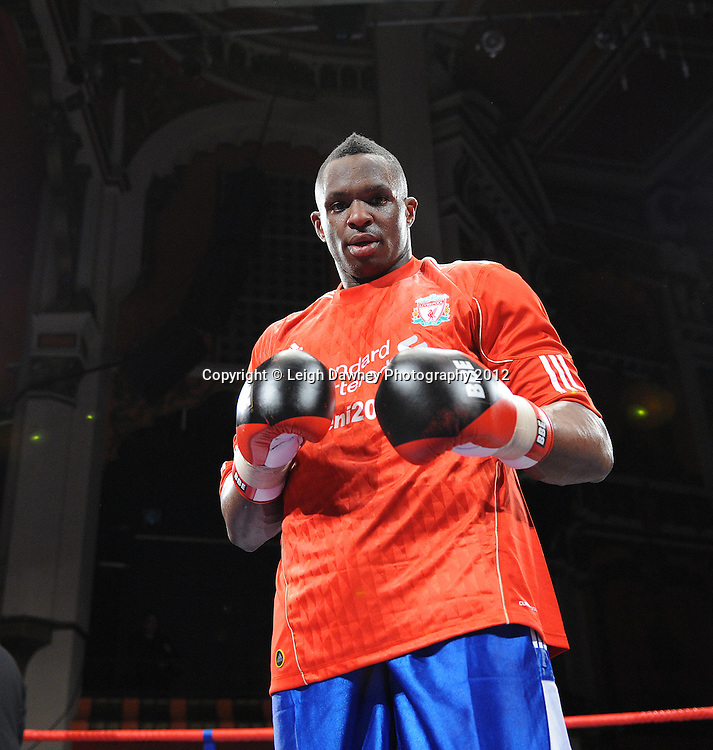 Dillian White defeats Hastings Rasani in a 4x3min Heavyweight contest at Olympia, Liverpool on the 21st January 2012. Frank Maloney Promotions on Skysports HD1. © Leigh Dawney Photography 2012.