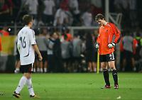 Fotball<br /> VM 2006<br /> Semifinale 04.07.2006<br /> Tyskland v Italia 0-2 eeo<br /> Foto: Witters/Digitalsport<br /> NORWAY ONLY<br /> <br /> Torwart  Jens Lehmann Deutschland Fussball WM 2006 Halbfinale Deutschland - Italien 0:2 n.V.