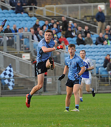 Westport&rsquo;s Fionn McDonagh kicks a point during the Intermediate final.<br />