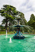 Peacock Fountain at the Botanical Garden, Christchurch, Canterbury, South Island, New Zealand