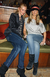 Left to right, TAMSIN GREENHILL and ALICE BRUDENELL-BRUCE at a party hosted by Daniella Helayel of fashion label ISSA held at Taman Gang, 141 Park Lane, London on 15th February 2006.<br /><br />NON EXCLUSIVE - WORLD RIGHTS