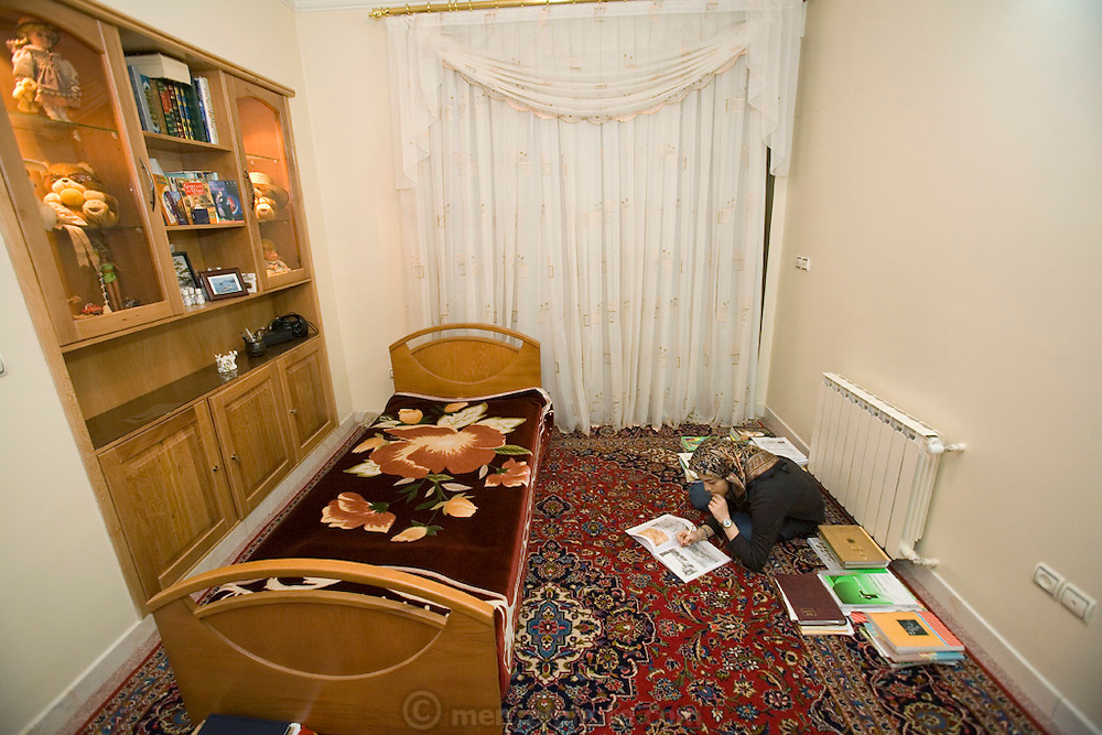 """Atefeh Fotowat,"""" 17, studies for University entrance examination in Isfahan, Iran. *Atefeh Fotowat is one of the 101 people selected for inclusion in Peter Menzel & Faith D'Aluisio's upcoming book Nutrition 101 (2008) about what people around the world eat in one day's time."""