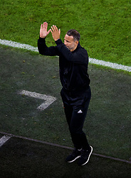 CARDIFF, WALES - Thursday, September 6, 2018: Wales' manager Ryan Giggs applauds the supporter after the UEFA Nations League Group Stage League B Group 4 match between Wales and Republic of Ireland at the Cardiff City Stadium. Wales won 4-1. (Pic by Laura Malkin/Propaganda)