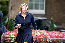 © Licensed to London News Pictures. 21/09/2017. London, UK. Home Secretary Amber Rudd arriving in Downing Street to attend a Cabinet meeting this morning. Photo credit : Tom Nicholson/LNP