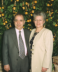 VIRGINIA LOPALCO - Co Founder of Pasta Reale the largest supply of pasta in the UK, and her husband MR SALVATORE LOPALCO, at a reception in London on April 16th 1997.LXR 5