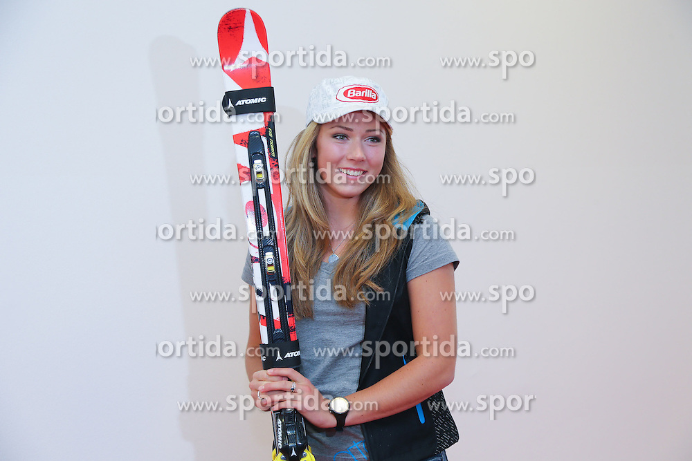 27.09.2012, Atomic Homebase, Altenmarkt, AUT, Atomic Medien Tag 2012, im Bild Mikaela Shiffrin (USA) // Mikaela Shiffrin (USA)  during the Atomic Media day 2012 at Atomic Homebase in altenmarkt, Austria on 2012/09/27.EXPA Pictures © 2012, PhotoCredit: EXPA/ Johann Groder