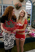 REBEKAH WADE AND PAGE 3 GIRL DANNI RELLS, Opening day of the Chelsea Flower Show. Royal Hospital Grounds. London. 19 May 2008 REBEKAH WADE AND HER MOTHER DEBORAH WADE.  *** Local Caption *** -DO NOT ARCHIVE-© Copyright Photograph by Dafydd Jones. 248 Clapham Rd. London SW9 0PZ. Tel 0207 820 0771. www.dafjones.com.