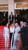 Actress Kristen Stewart, actress Juliette Binoche, actress Chloe Grace Moretz, director Olivier Assayas and Thierry Fremaux at Sils Maria gala screening red carpet at the 67th Cannes Film Festival France. Friday 23rd May 2014 in Cannes Film Festival, France.