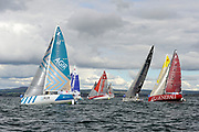 Adrien HARDY (AGIR Recouvrement), Tanguy LE TURQUAIS (NIBELIS), Thierry CHABAGNY (GEDIMAT), Pierre RHIMBAULT (BRETAGNE CMB ESPOIR), Nicolas LUNVEN (GENERALI) during the start of the Douarnenez Fastnet Solo 2017 on September 17, 2017 in Douarnenez, France - Photo Francois Van Malleghem / ProSportsImages / DPPI