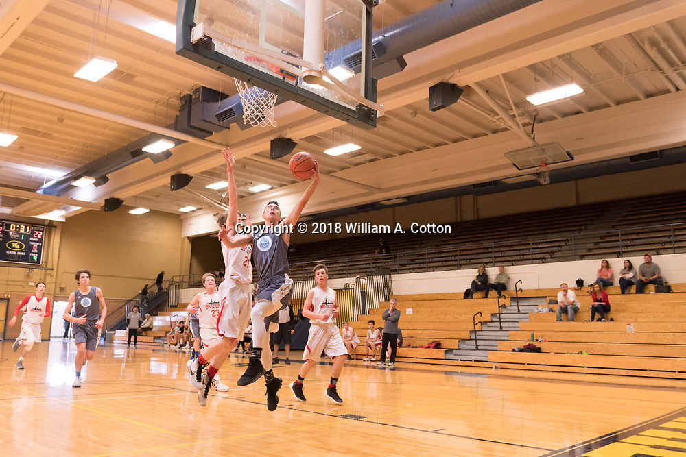 The Colorado Rain Junior Varsity Team plays in the MAYB basketball tournament at Westminster High School, April 14, 2018.