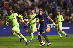 January 10, 2019 - Valencia, Valencia, Spain - Jose Luis Morales of Levante UD and Jeison Murillo of FC Barcelona during the Spanish Copa del Rey match between Levante and Barcelona at Ciutat de Valencia Stadium on Jenuary 10, 2019 in Valencia, Spain. (Credit Image: © Maria Jose Segovia/NurPhoto via ZUMA Press)