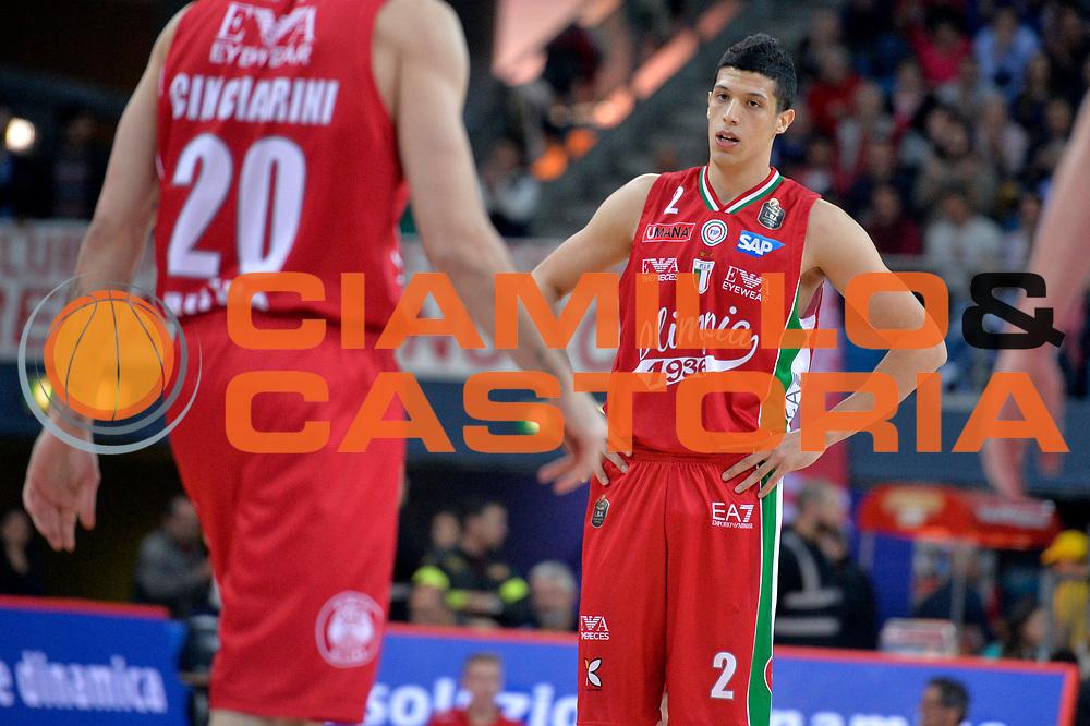 Simone Fontecchio<br /> Consultinvest Victoria Libertas Pesaro - EA7 Emporio Armani Olimpia MIlano<br /> Lega Basket Serie A 2016/2017<br /> Pesaro, 30/04/2017<br /> Foto M.Ceretti / Ciamillo - Castoria