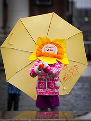 Repro Free: 21/03/2013 .?Blooming Weather? Alexandra O'Donnell (4) from Rathgar Co. Dublin is pictured checking the weather ahead of the Irish Cancer Society's Daffodil Day, taking place nationwide tomorrow (Friday 22st March). The Irish Cancer Society and Dell, lead partners for Daffodil Day, are calling on the Irish public to wear a daffodil today and support those affected by cancer in Ireland. Picture Andres Poveda.