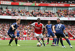 Edward Nketiah of Arsenal forces his way into the box - Mandatory by-line: Arron Gent/JMP - 28/07/2019 - FOOTBALL - Emirates Stadium - London, England - Arsenal v Olympique Lyonnais - Emirates Cup