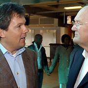 Persconferentie Joop van den Ende ivm samenwerking met de NS.Nederlandse Spoorwegen,