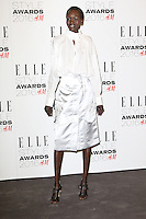 Alek Wek, ELLE Style Awards 2016, Millbank London UK, 23 February 2016, Photo by Richard Goldschmidt