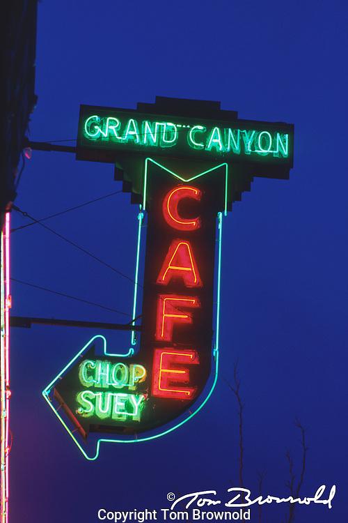 dinner's neon, flagstaff, AZ