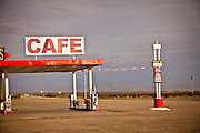 Roy's Motel & Cafe, historic landmark along the old Route 66 in the Mojave Desert Amboy, CA