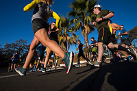 Runners run through Fair Oaks Village in the California International Marathon (CIM), Sunday Dec 3, 2017.<br /> photo by Brian Baer