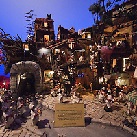 VERONA, ITALY - DECEMBER 04:  A nativity scene from Campania created using only  Pulcinellas at the exhibition  of nativity scenes from all over the world inside the passage ways of the Roman Arena. on December 4, 2010 in Verona, Italy. Christmas markets, fairs, lights and nativity scenes fill Northern Italian cities and villages from December through January 6.