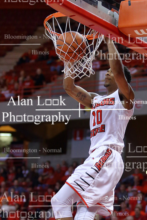29 December 2016:  Phil Fayne(10) drains a dunk during an NCAA  MVC (Missouri Valley conference) mens basketball game between the Evansville Purple Aces the Illinois State Redbirds in  Redbird Arena, Normal IL