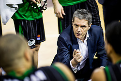 Zoran Martic, coach of Petrol Olimpija during basketballl match between KK Petrol Olimpija Ljubljana and KK Partizan NIS mts in Round #20 of ABA League 2017/18, on February 10, 2018 in Tivoli sports hall, Ljubljana, Slovenia. Photo by Vid Ponikvar / Sportida