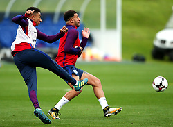 England's Jesse Lingard and Kyle Walker - Mandatory by-line: Matt McNulty/JMP - 29/08/2017 - FOOTBALL - St George's Park National Football Centre - Burton-upon-Trent, England - England Training and Press Conference