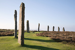 Ring o' Brodgar ancient Neolithic stone monument on Stenness; Orkney; Scotland,